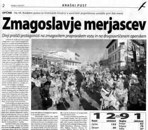 Primorski dnevnik, 6. marec 2011
