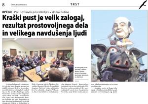 Primorski dnevnik, 8. november 2012
