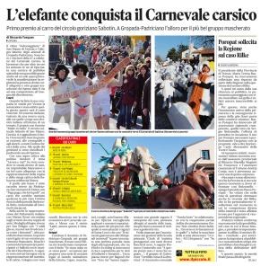 Il Piccolo, 9. marec 2014