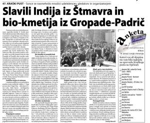 Primorski dnevnik, 9. marec 2014