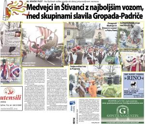 Primorski dnevnik, 15. februar 2015