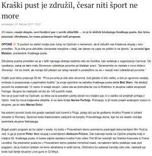 Primorske novice 20 febbraio 2017